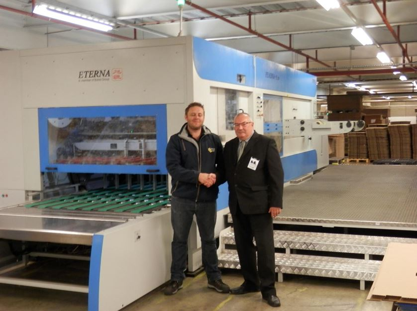 Cumberland Packaging take delivery of their Third Eterna Diecutter