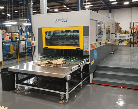 M&K Trading installs PE1620SA-Extra flat bed die-cutter